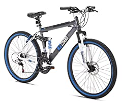 The Shogun KZ2600 Mountain Bike features a full-suspension, strong aluminum frame that utilizes a floating beam suspension design that is mated to a suspension fork. The KZ2600 features 21 Speed Shimano Shifters and rear derailleur. The drive...