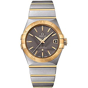 Omega Men's 'Constellation' Swiss Automatic Stainless Steel Dress Watch, Color:Two Tone (Model: 12320382106001)