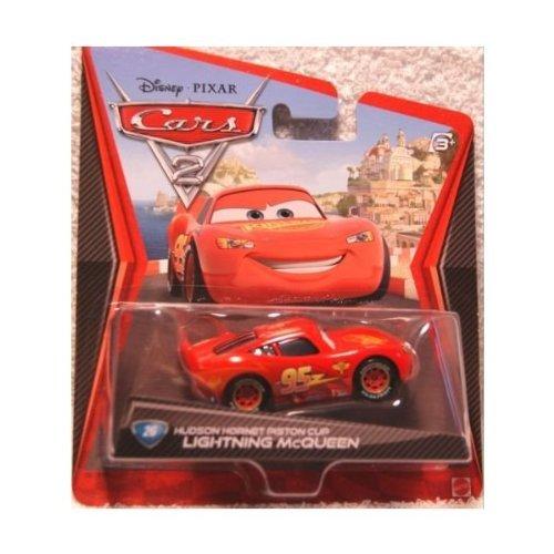 Disney / PIXAR Cars 2 #26 Hudson Hornet Piston Cup LIGHTNING McQUEEN 1:55 Scale Mattel (Cars Lightning Mcqueen Piston Cup)