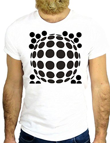 T SHIRT Z0147 POIS BALL NICE VINTAGE MODERN FASHION MODE COOL SUPER SPORT GGG24 BIANCA - WHITE XL