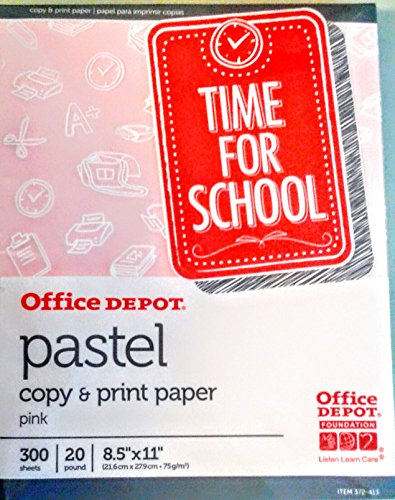 - Office Depot Pastel Copy & Print Paper 300 Sheets (PINK)