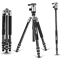 Zomei Z888C Ball Head Compact and Carbon Fiber Tripod for Camera - Silver