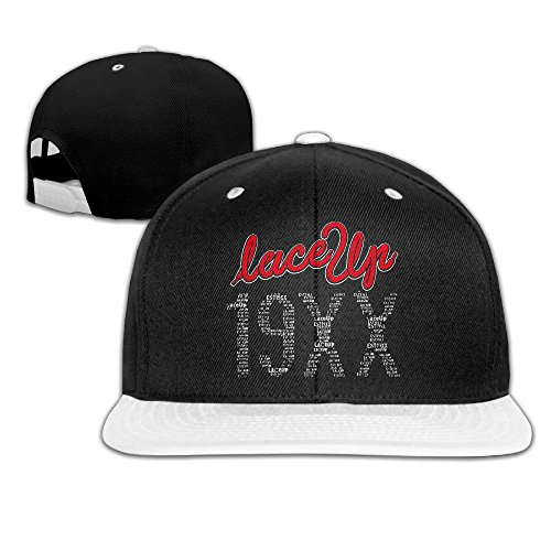 Machine Gun MGK Lace Up Est 19xx Wordart Snapback Hip-hop Baseball Caps White (5 Colors)