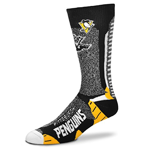 (For Bare Feet Men's NHL-Downtown Socks-Pittsburgh Penguins-Size Large)