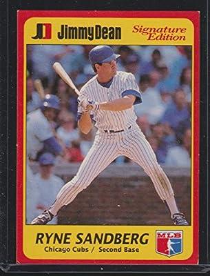 1991 Jimmy Dean Ryne Sandberg Cubs Baseball Card 6 At