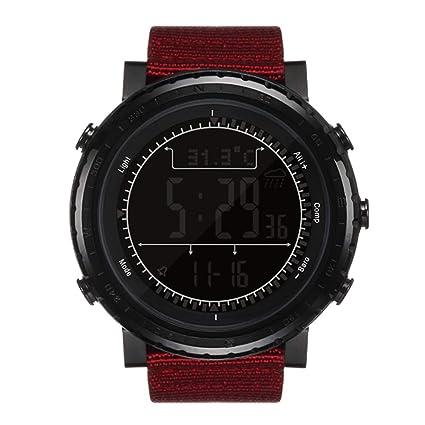 NORTH EDGE Reloj Deportivo Digital para Hombre de Militar multifunción retroiluminado, con LED, Impermeable