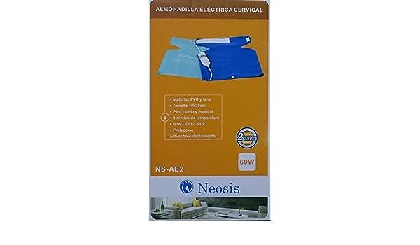 ALMOHADA ALMOHADILLA ELECTRICA CERVICAL CUELLO Y ESPALDA: Amazon.es: Salud y cuidado personal