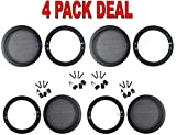 4 Pcs 4.5'' INCH CAR SPEAKER WOOFER STEEL MESH GRILL WITH SPEED CLIPS AND SCREWS