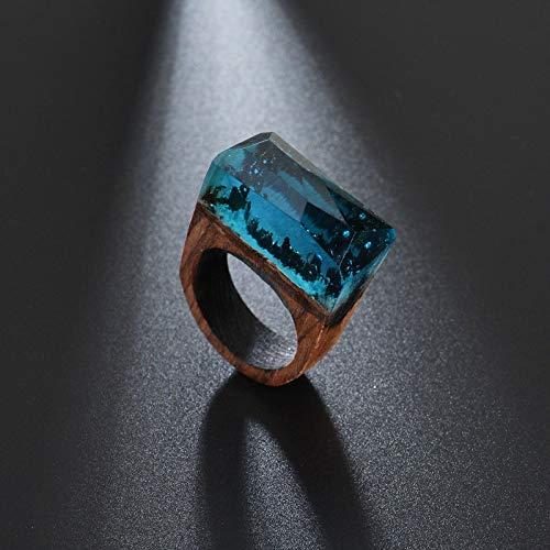 shelian Ring Party Ring Handmade Wood Woodring Finger Ring Lodestar