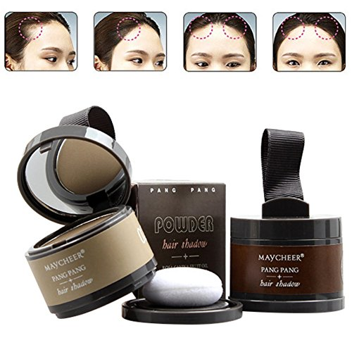 Hanyia Hairline powder Hair Line Modified Shadow Powder Hair Color with Mirror & Puff Hairline Contour Concealer Bronzer Highlighter 1 (Modified A-line)