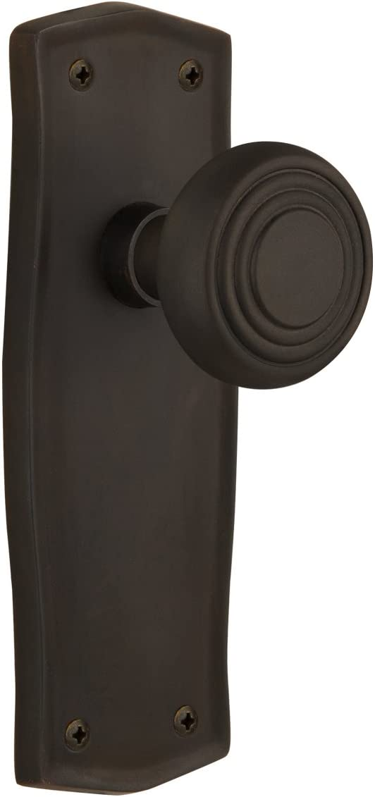 Mortise Timeless Bronze Nostalgic Warehouse Prairie Plate with Deco Knob 2.25