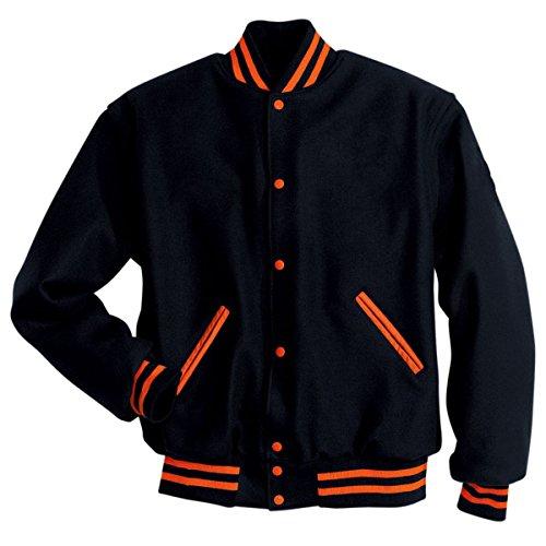 LETTERMAN JACKET Holloway Sportswear L Black/Burnt - Street Melton High