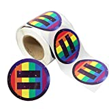 Love Pride Stickers Heart Shaped Roll Tape 250 Stickers Gay Pride Support LGBT (Equality + Pride)