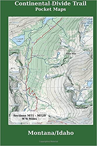 Montana And Idaho Map.Continental Divide Trail Pocket Maps Montana Idaho K Scott Parks