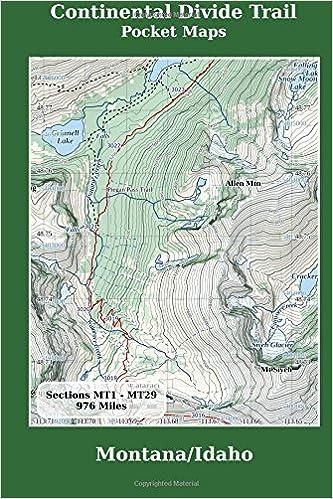 Cdt Colorado Map.Continental Divide Trail Pocket Maps Montana Idaho Amazon Co Uk