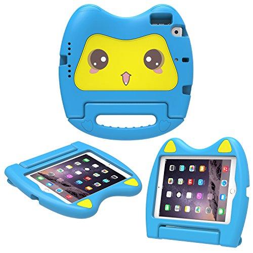 MoKo Case Fit iPad Mini 3/2/1, Kids Friendly Shock Proof Handle Light Weight Convertible Stand Cover Fit Apple iPad Mini 1 2012, iPad Mini 2 2013, iPad Mini 3 2014, Blue (Not fit iPad Mini 4)