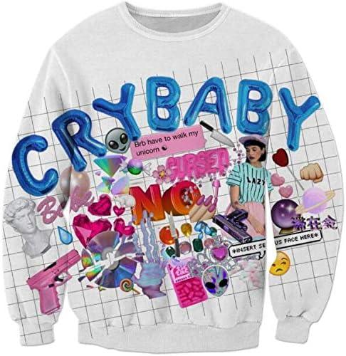 Sweater met motief ZwartCry Baby DAMES   H&M NL