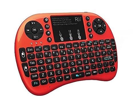 17e976cd8c9 Rii 2.4GHz Mini Wireless Keyboard with Touchpad&QWERTY Keyboard,LED Backlit,Portable  Keyboard Wireless