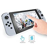 Nintendo Switch Tempered Glass Screen Protector Glass, Asstar [Lifetime Replacement], 9H, 0.3mm, 2.5D Round Edge, Anti-Scratch, Anti-Bubble for Nintendo Switch 2017 (1 Pack)