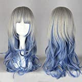 Hara-Juku decal Wig Net NET with Costume accessory Silver Blue One Size