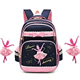 Best Barbie Book Bags - Debbieicy Cute Ballet Dance Girl Waterproof Backpack Princess Review