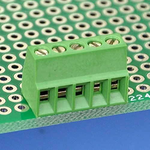Electronics-Salon 10PCS 5 Polen 2, 54 mm/0, 3 cm PCB Schraube-Terminal Block.