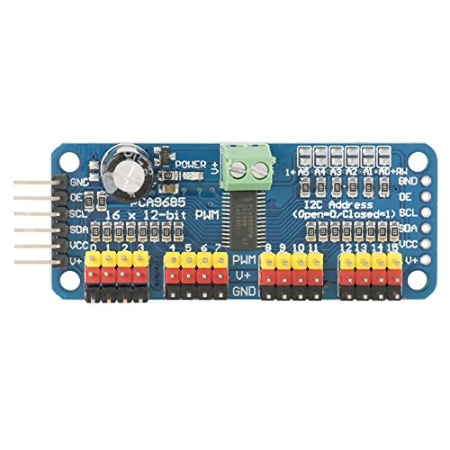 (16-Channel PWM/Servo/Steering Engine Drive Board Controller Robot Motor Driver IIC Module Fit forSG90 MG995 for Arduino Robot )