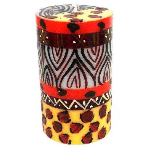 - Global Crafts Single Boxed Hand-Painted Pillar Candle - Uzima Design - Nobunto Candles