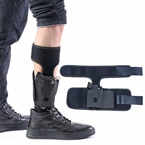 Ankle Gun Holster for Concealed Carry Leg Holster for Pistol Man Women with Magazine Pouch For Glock 42, 43, 36, 26, S&W Bodyguard .380, .38, Sig Sauer, Ruger LCP LC9 and more