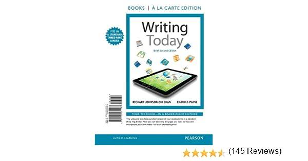 Amazon.com: Writing Today, Brief Edition, Books a la Carte Edition ...
