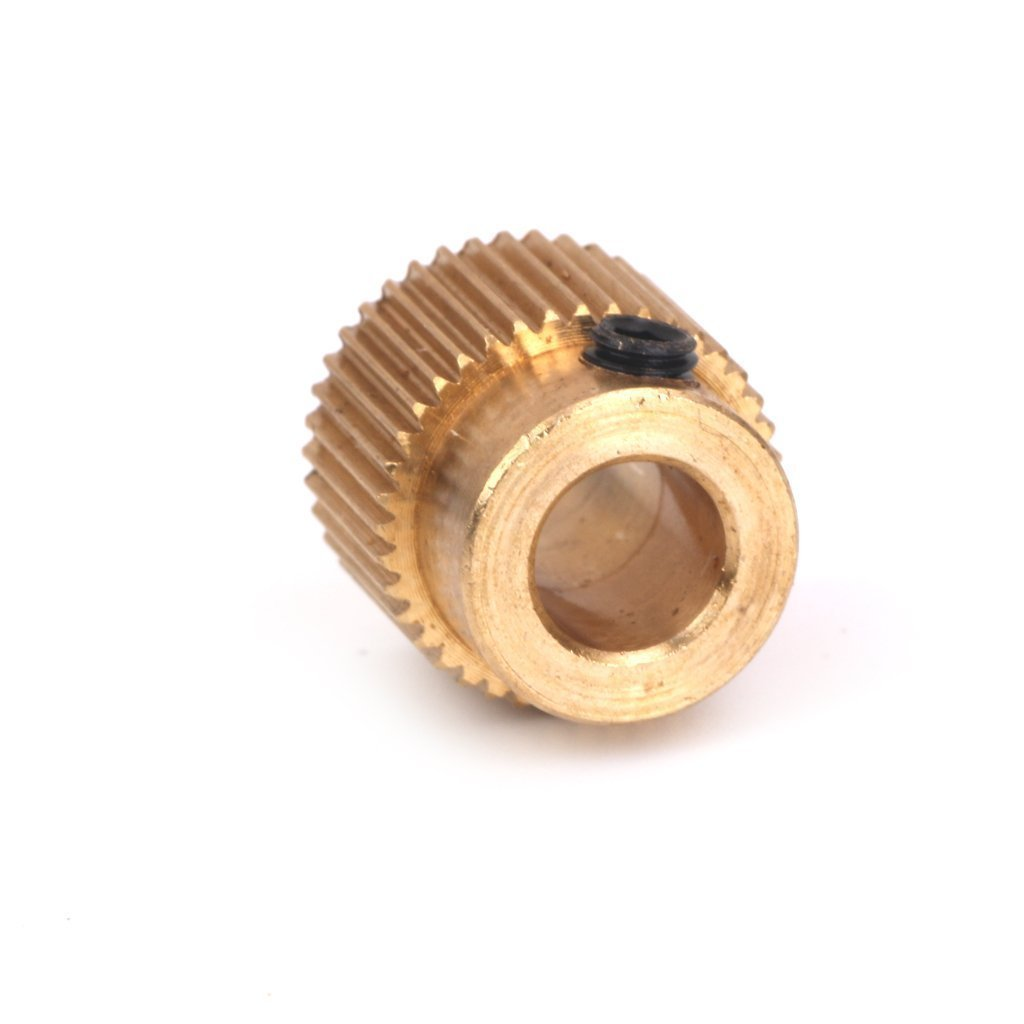 Nacpy 3D Printer 1.75 mm Filament Extruder Drive Gear Extruder Hobbed Gear Printer Extruder Pulley Shaft Copper Made 40 Tooth