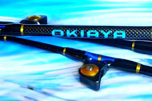 """OKIAYA  /""""THE TERMINATOR/"""" 80-130lb Bent Butt Saltwater Roller Rod 5/'6/"""""""