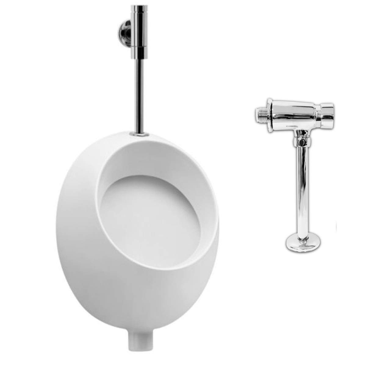 VBChome Set  Urinal Inlet Top White Modern High Quality Ceramic Pissoir Pico greenical Pissoir Flush Valve Urinal Flush Valve Hydro H
