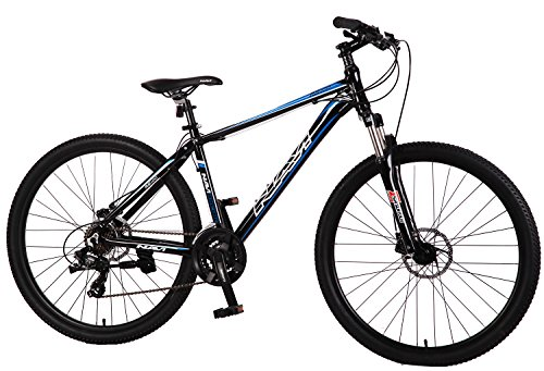 "Navi RS100 Hardtail Mountain Bike (Black/Blue), Aluminum Alloy Frame, Shimano Disc Brakes, Shimano Crank Set, Shimano Tourney 21-speed, 27.5"" Wheel Mountain Bike"