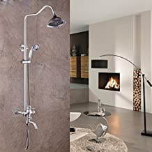 DLBAN Space Aluminum Hot And Cold Top Spray Hand Shower Bathroom Toilet Satin Finish Faucet Hot And Cold Shower