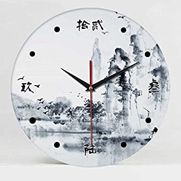 WERLM Diseño personalizado decorativos para el hogar reloj de pared Reloj relojes de cerámica de arte ...