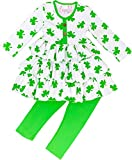 Boutique Clothing Girls ST. Patricks Day Shamrock Tiered Legging Set 7/2XL
