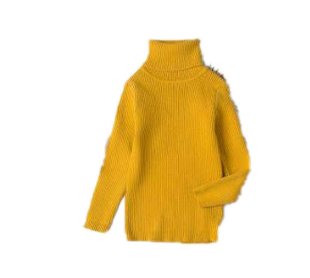 BCVHGD Autumn Boys Girls Turtleneck Sweaters Kids Sweater for Winter Knitted Bottoming Boys Sweaters Vetement Tops