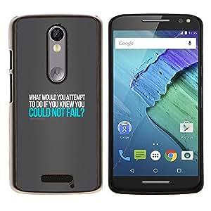 EJOOY---Cubierta de la caja de protección para la piel dura ** Motorola Moto X3 3rd Generation ** --ROBERT SCHULLER CITA