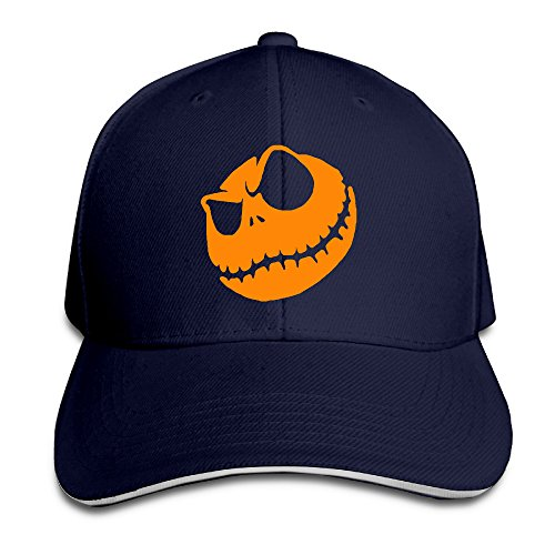 Halloween Pumpkin King Logo Baseball Hat (Halloween Trick Or Treat Movie Online)
