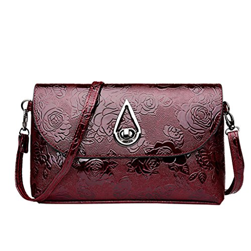 Red Lady Bag Pattern Messenger Shoulder Bag Flower Chest Bag Chest Deals TOOPOOT Women Leather Clearance YgRqCw6x