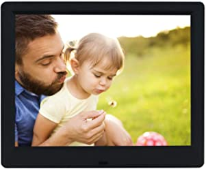 9-Inch Digital Picture Photo Frame 4:3 High Resolution IPS LCD Screen,