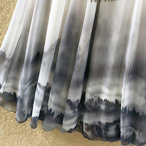 Ashir Aley Summer Floral Flowy Chiffon Long Maxi Skirt (Grey) by Ashir Aley (Image #4)
