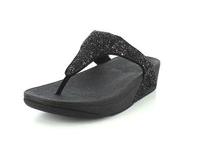 bbdfa80548c041 FitFlop Women s Glitterball Wedge Thong Sandal