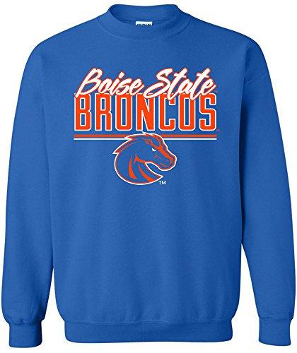 (NCAA Boise State Broncos Script Crewneck Sweatshirt, Medium,Royal)
