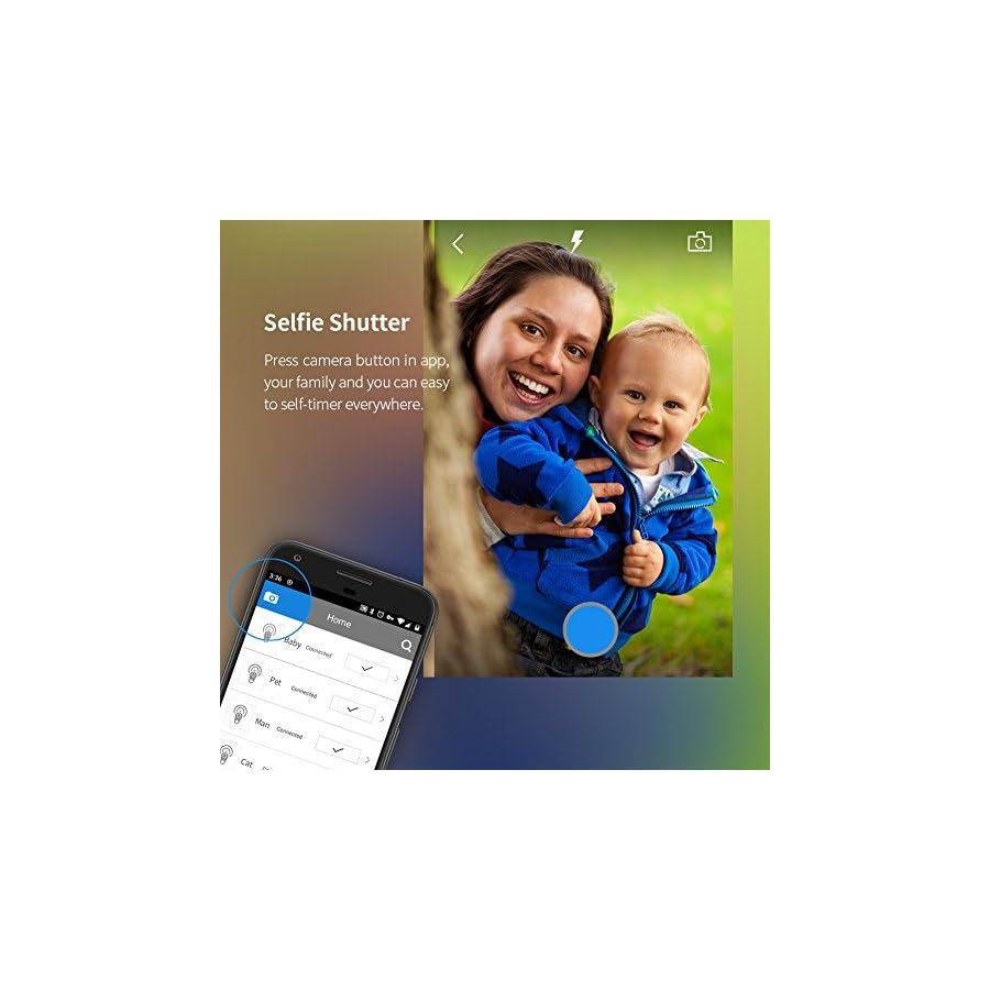 Dangchu 3pcs Smart Finder Bluetooth Locator Pet Tracker Alarm GPS Tracker Key Wallet Car Kids Pet Dog Cat Child Bag Phone Locator Selfie Shutter Wireless Anti Lost Alarm Sensor Random color