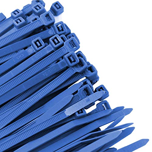Pro Tie BL11SD100 11.8-Inch Blue Standard Duty Color Cable Tie, Blue Nylon, 100-Pack