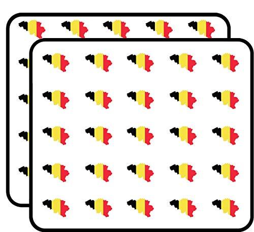- Belgium Map Flag Country Shape Sticker for Scrapbooking, Calendars, Arts, Kids DIY Crafts, Album, Bullet Journals 50 Pack