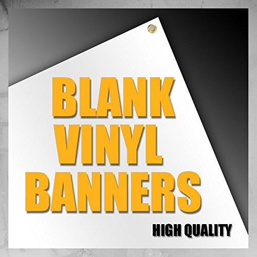 - 3'x5' Blank Vinyl Banner 13oz White Grommets Quality Made In USA