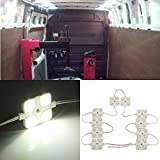 AUDEW 12V 40 LED Car Interior Lighting Lamp Waterproof Kit For Vans Boats Caravans Trailers Lorries HGV